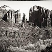 Vintage Cathedral Rock Art Print