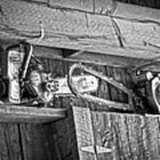 Vintage Chain Saws Art Print