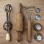 Vintage Cooking Utensils Art Print