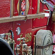 Vintage Fire Truck 2 Art Print
