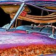 Vintage Frazer Front Window Auto Wreck Art Print