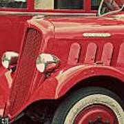 Vintage French Delahaye Fire Truck  Art Print