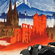 Vintage Germany Travel Poster Art Print