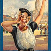 Vintage Holland Travel Poster Art Print