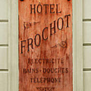 Vintage Hotel Sign 3 Art Print