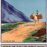 Vintage Ireland Travel Poster Art Print