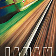 Vintage Japanese Government Railways Poster Art Print