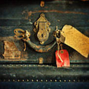 Vintage Luggage Art Print