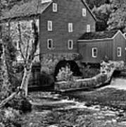 Vintage Mill In Black And White Art Print