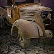 Vintage Pickup On Parched Earth Art Print