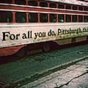Vintage Pittsburgh Trolly Art Print