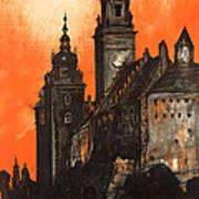 Vintage Poland Travel Poster Art Print