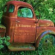 Vintage Rusted Dodge Truck Art Print