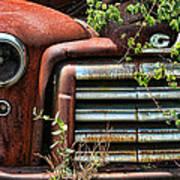 Vintage Rusty Dusty Gmc Graveyard Truck Art Print