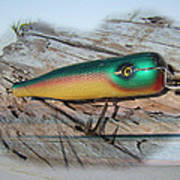 Vintage Saltwater Fishing Lure - Masterlure Rocket Art Print
