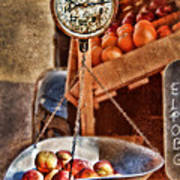 Vintage Scale At Fruitstand Art Print