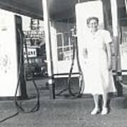 Vintage Service Station Art Print