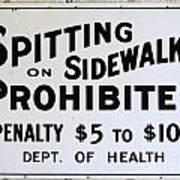 Vintage Sign For Spitter Haters Art Print