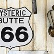 Vintage Sign Hysteric Butte 166 Art Print