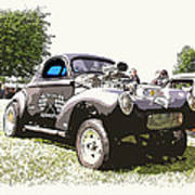 Vintage Willys Gasser Art Print