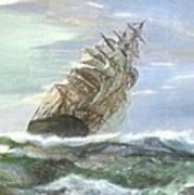 Violent Sea -oil Painting Art Print by Rejeena Niaz