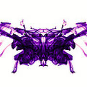 Violet Abstract Butterfly Art Print