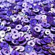 Violet Beads And Sequins Art Print