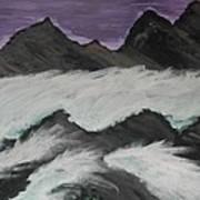 Violet Raging Waters Art Print