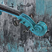 Violinelle - Turquoise 04d2 Art Print by Variance Collections