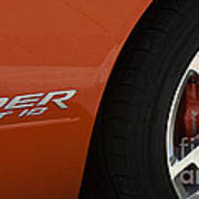 Viper Srt 10 Emblem And Wheel Art Print