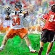 College Lacrosse 10 Art Print