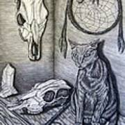 Visions Of Stimus The Cat Art Print