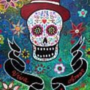 Viva El Amor Day Of The Dead Art Print