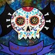 Viva Los Muertos Bat Art Print