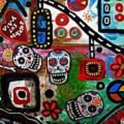 Viva Tres Muertos Art Print
