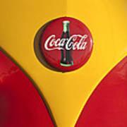 Volkswagen Vw Bus Coco Cola Emblem Art Print