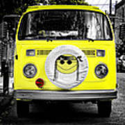 Volkswagon Hippie Bus Art Print