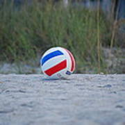 Volleyball On The Beach Art Print