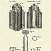 Voltaic Battery 1887 Patent Art Art Print