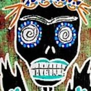 Voodoo Queen Sugar Skull Angel Art Print