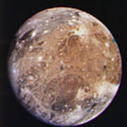 Voyager I Photo Of Ganymede, Jupiter's Third Moon Art Print