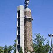 Vulcan Park Statue In Birmingham Art Print