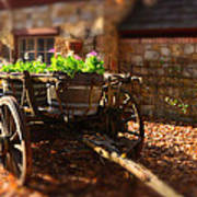 Wagon Of Flowers Art Print by Andrew Dickman