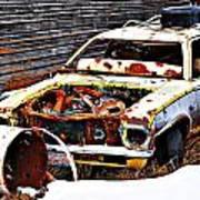 Wagon Of Rust Art Print
