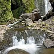 Wailua Falls And Rocks Art Print