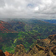 Waimea Canyon Weather Art Print