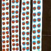 Four Amber Race Lights Art Print