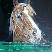 Waiting - Horse Portrait Art Print