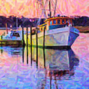 Waiting In The Harbor Art Print