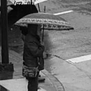 Waiting In The Rain Art Print
